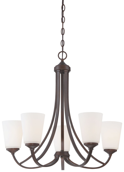 Minka Lavery Overland Park 5 Light Chandelier in Vintage Bronze Finish