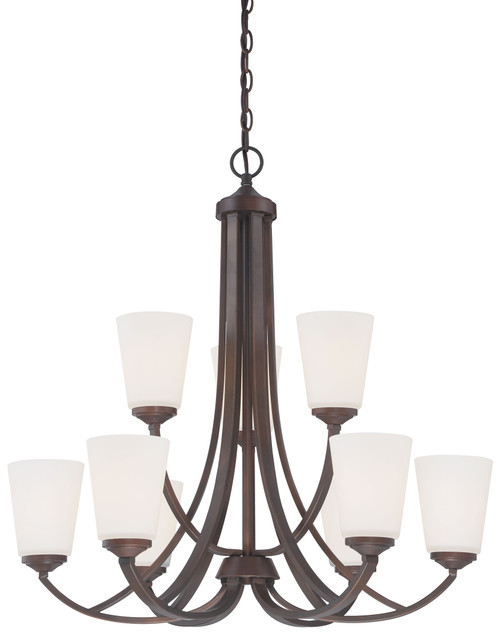 Minka Lavery Overland Park 9 Light Chandelier in Vintage Bronze Finish