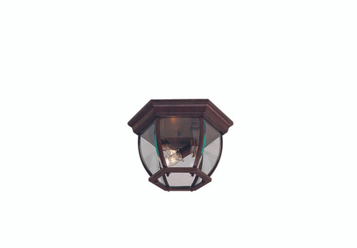 Minka Lavery 3 Light Outdoor Flush Mount in Antique Bronze Finish