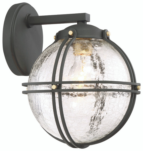 Minka Lavery Rond 1 Light Wall Mount in Coal WithHoney Gold Highlights Finish