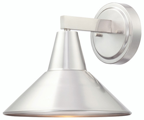 Minka Lavery Bay Crest 1 Light Outdoor Wall Mount in Brushed Stainless Steel Finish