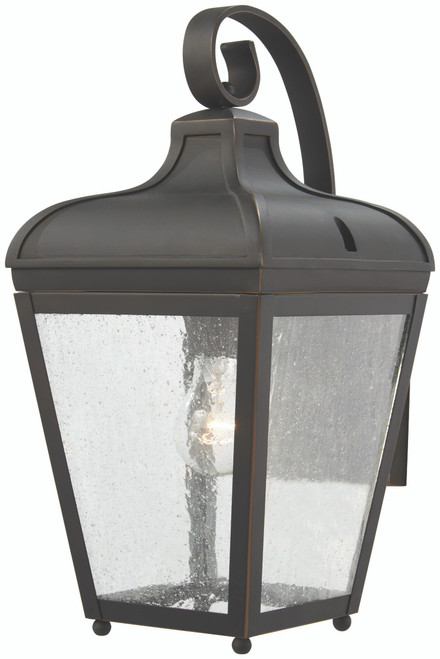 Minka Lavery Marquee 1 Light Wall Mount in Oil Rubbed Bronze With Gold Highlights Finish
