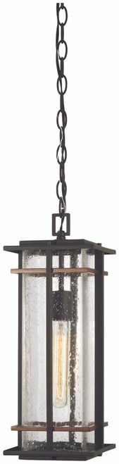 Minka Lavery San Marcos 1 Light Chain Hung in Coal With Antique Copper Accents Finish