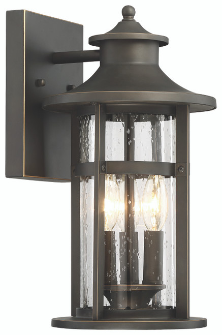 Minka Lavery Highland Ridge 3 Light Wall Mount in Oil Rubbed Bronze With Gold Highlights Finish
