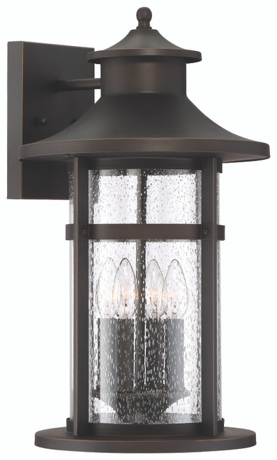 Minka Lavery Highland Ridge 4 Light Wall Mount in Oil Rubbed Bronze With Gold Highlights Finish