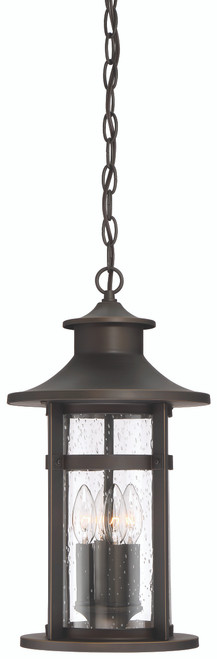 Minka Lavery Highland Ridge 4 Light Chain Hung in Oil Rubbed Bronze With Gold Highlights Finish
