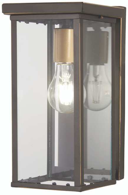 Minka Lavery Casway 1 Light Pocket Lantern in Oil Rubbed Bronze With Gold Highlights Finish