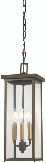 Minka Lavery Casway 4 Light Chain Hung in Oil Rubbed Bronze With Gold Highlights Finish