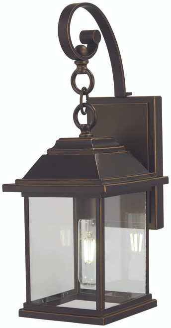 Minka Lavery Mariner'S Pointe 1 Light Wall Mount in Oil Rubbed Bronze With Gold Highlights Finish