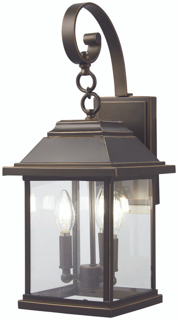Minka Lavery Mariner'S Pointe 3 Light Wall Mount in Oil Rubbed Bronze With Gold Highlights Finish
