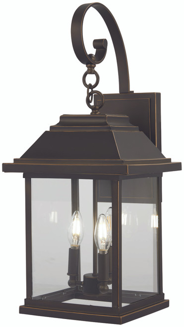 Minka Lavery Mariner'S Pointe 4 Light Wall Mount in Oil Rubbed Bronze With Gold Highlights Finish