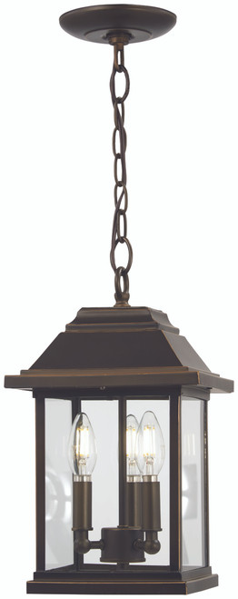 Minka Lavery Mariner'S Pointe 3 Light Chain Hung in Oil Rubbed Bronze With Gold Highlights Finish