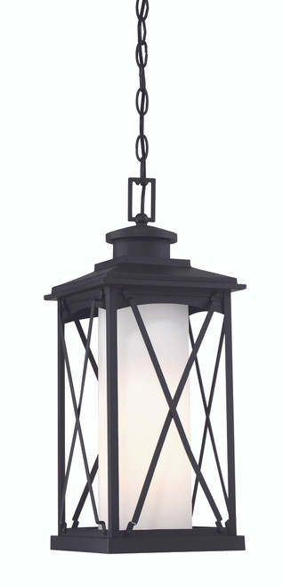 Minka Lavery Lansdale 1 Light Outdoor Chain Hung in Coal Finish