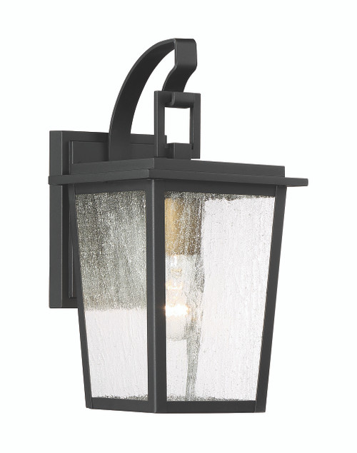 Minka Lavery Cantebury 1 Light Outdoor Wall Mount in Coal With Gold Finish