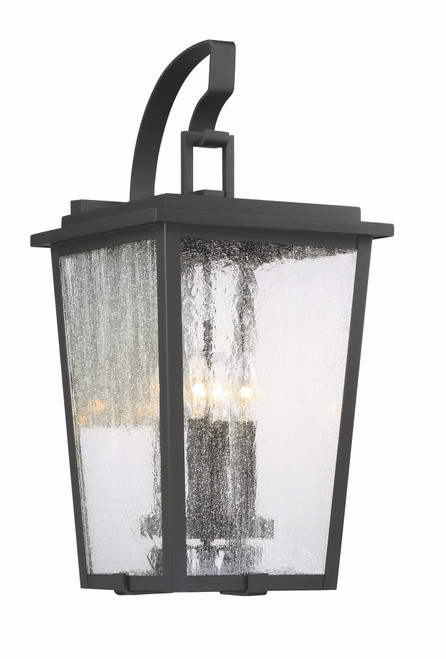 Minka Lavery Cantebury 4 Light Outdoor Wall Mount in Coal With Gold Finish
