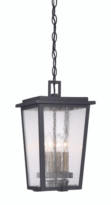 Minka Lavery Cantebury 4 Light Outdoor Chain Hung in Coal With Gold Finish