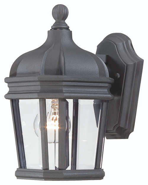 Minka Lavery Harrison 1 Light Outdoor Wall Mount in Coal Finish