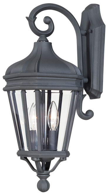 Minka Lavery Harrison 2 Light Outdoor Wall Mount in Coal Finish