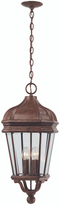 Minka Lavery Harrison 4 Light Outdoor Chain Hung in Vintage Rust Finish