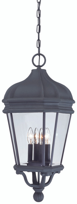 Minka Lavery Harrison 4 Light Outdoor Chain Hung in Coal Finish
