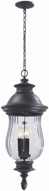 Minka Lavery Newport Pl 4 Light Outdoor Chain Hung in Heritage Finish