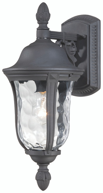 Minka Lavery Ardmore 1 Light Outdoor Wall Mount in Coal Finish