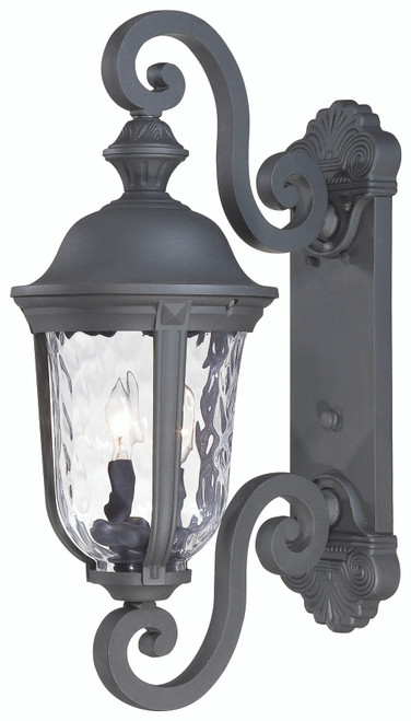 Minka Lavery Ardmore 2 Light Outdoor Wall Mount in Coal Finish