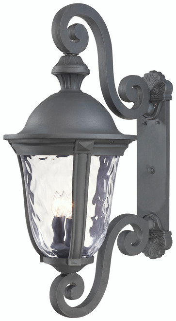 Minka Lavery Ardmore 3 Light Outdoor Wall Mount in Coal Finish