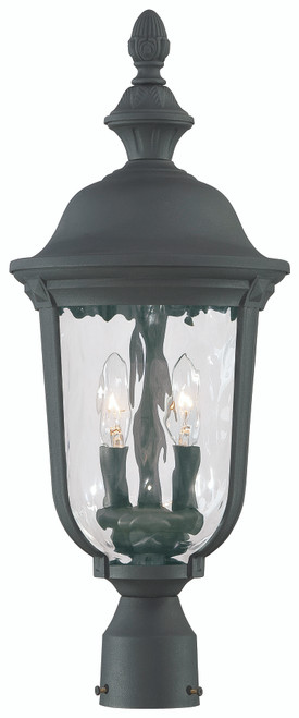 Minka Lavery Ardmore 2 Light Outdoor Post Mount in Coal Finish