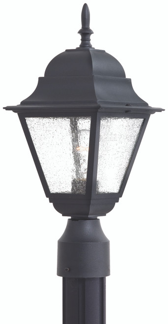 Minka Lavery Bay Hill 1 Light Outdoor Post Mount in Coal Finish