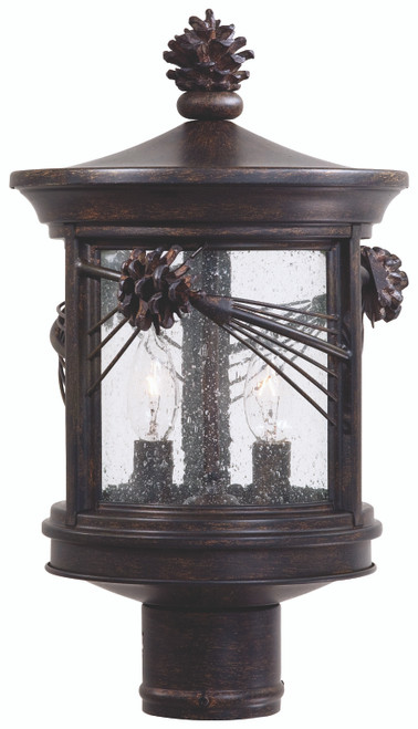 Minka Lavery Abbey Lane 2 Light Outdoor Wall Mount in Iron Oxide Finish