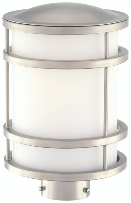 Minka Lavery Bay View 1 Light Outdoor Post Mount in Brushed Stainless Steel Finish