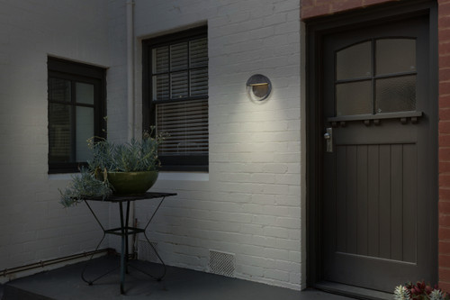 Minka Lavery Espirit Del Sol Led Outdoor Wall Mount in Glided Iron With Silver Finish
