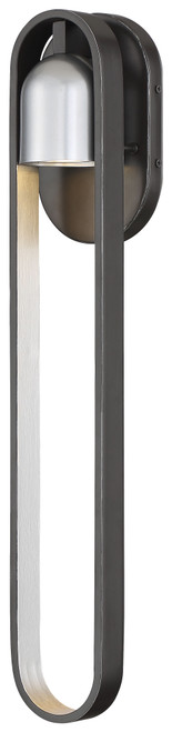 Minka Lavery Rocketa Led Wall Mount in Artisan Coal With Silver Accents Finish