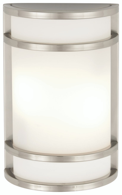 Minka Lavery Bay View Led Outdoor Pocket Lantern in Brushed Stainless Steel Finish