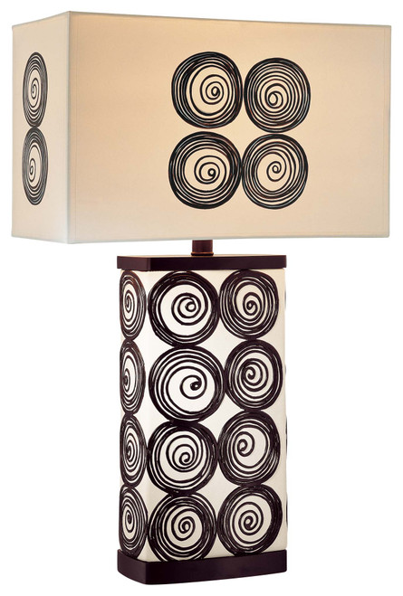 Minka Lavery 1 Light Table Lamp in Black & White Finish