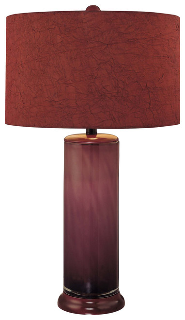 Minka Lavery 1 Light Table Lamp in Purple Finish