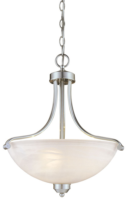 Minka Lavery Paradox 3 Light Pendant in Brushed Nickel Finish