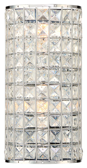 Minka Lavery Palermo 2 Light Wall Sconce in Chrome Finish