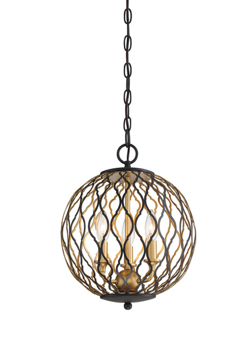 Minka Lavery 3 Light Pendant in Sand Coal With PaInterior And Pla Finish