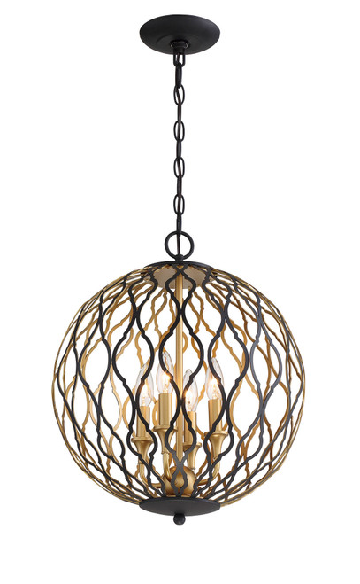 Minka Lavery 4 Light Pendant in Sand Coal With PaInterior And Pla Finish