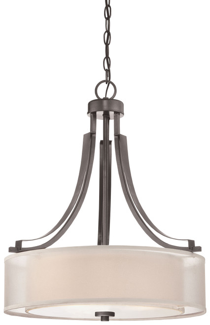 Minka Lavery Parsons Studio Pendant in Smoked Iron Finish