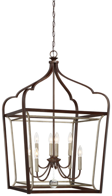 Minka Lavery Astrapia 8 Light Pendant in Dark Rubbed Sienna With Aged S Finish