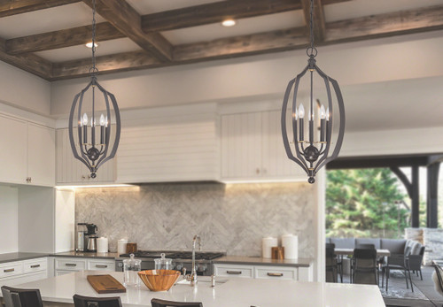 Minka Lavery Middletown 5 Light Foyer Pendant in Downton Bronze With Gold Highlights Finish