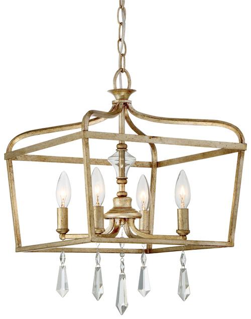 Minka Lavery Laurel Estate 4 Light Pendant in Brio Gold Finish