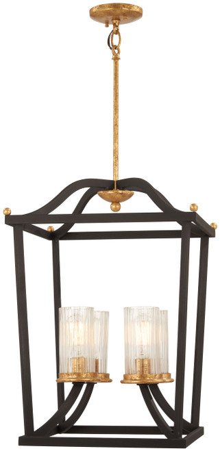 Minka Lavery Posh Horizon 4 Light Pendant in Sand Coal With Gold Leaf Finish