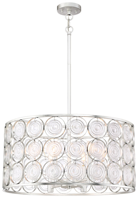 Minka Lavery Culighture Chic 6 Light Pendant in Catalina Silver Finish