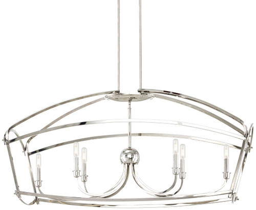 Minka Lavery Jupiter'S Canopy 6 Light Island in Polished Nickel Finish