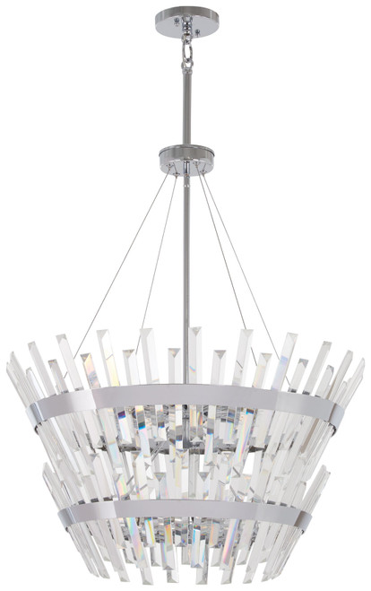 Minka Lavery Echo Radiance 14 Light Chandelier in Chrome Finish