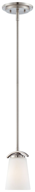 Minka Lavery Overland Park 1 Light Mini Pendant in Brushed Nickel Finish